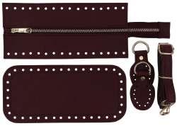 7. Κιτ τσάντας Elegant 11DOBO - Μπορντώ - Χρυσά μεταλλικά
