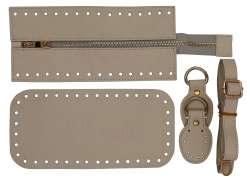 7. Κιτ τσάντας Elegant 4DOE - Εκρού - Χρυσά μεταλλικά