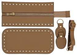7. Κιτ τσάντας Elegant 5DOS - Σπαγγί - Χρυσά μεταλλικά