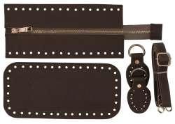 7. Κιτ τσάντας Elegant 12DOP - Πούρου - Χρυσά μεταλλικά
