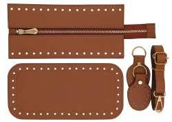 7. Κιτ τσάντας Elegant 3DOBR - Ταμπά - Χρυσά μεταλλικά