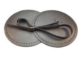 Σετ στρόγγυλη τσάντα 1 MS15 - Σκούρο γκρι