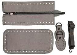 7. Κιτ τσάντας Elegant 6DOG2 - Ασημί - Μαύρα μεταλλικά