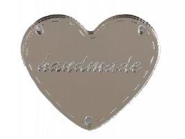 Ταμπελάκι Handmade καθρέφτης καρδιά 4,5cm
