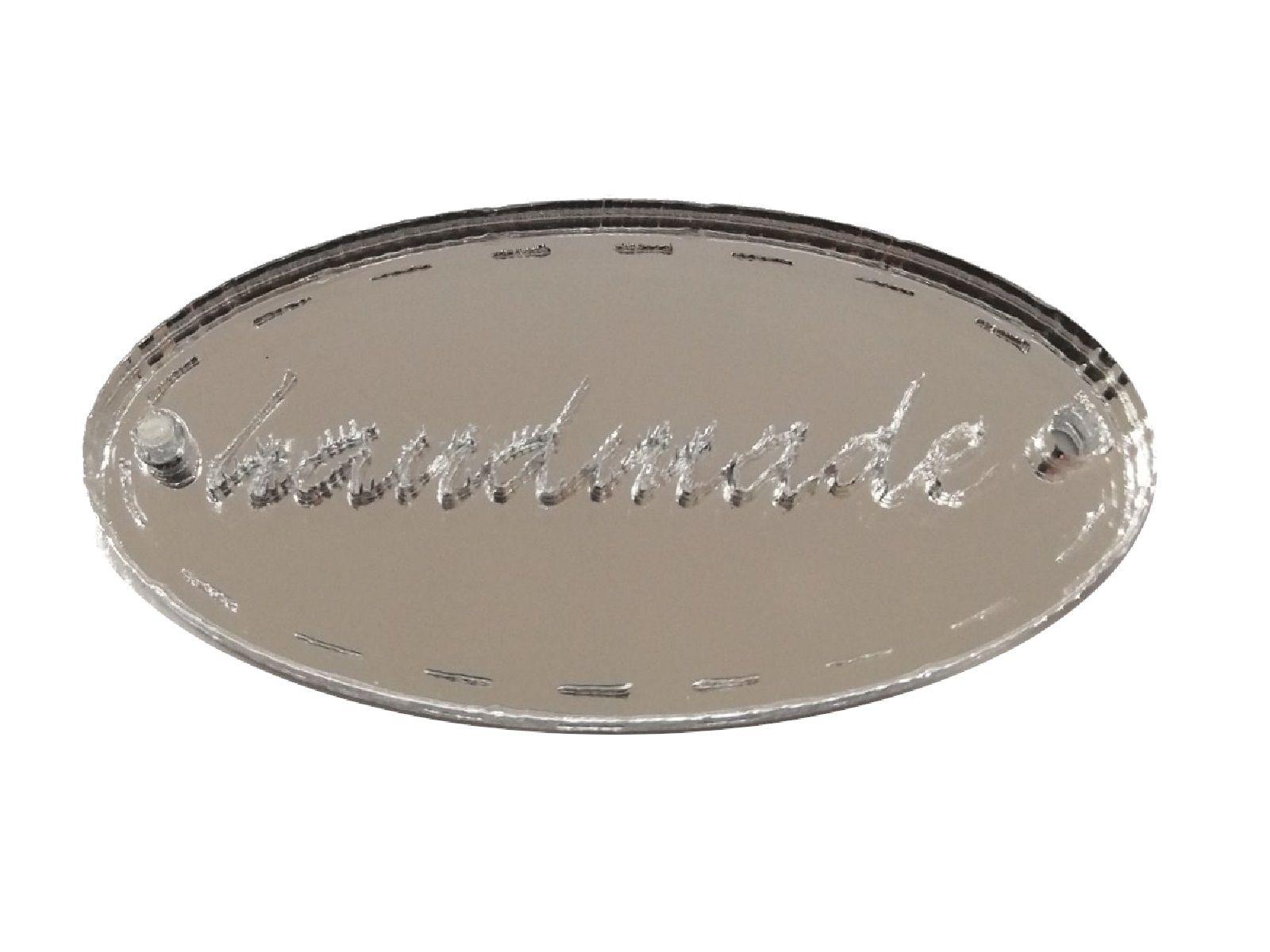 Ταμπελάκι Handmade καθρέφτης οβάλ 2,5cm