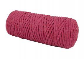 Cotton Twist Macrame Slim 3mm 9 - Fushcia