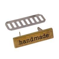 Ταμπελάκι Handmade μεταλλικό 3cm 7 - Μπρονζέ