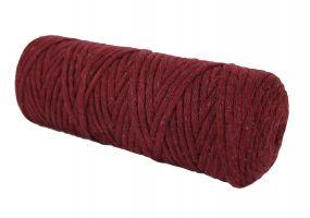 Cotton Twist Macrame Slim 3mm 19 - Bordeuax