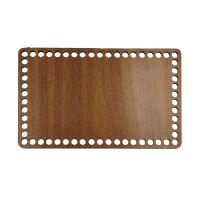 Ξύλινοι πάτοι (S) 1xm4 - Ορθογώνιο καρυδιάς (23,5x14,5 cm)