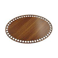 Ξύλινοι πάτοι (S) 1xm2 - Οβάλ καρυδιάς (25x15 cm)