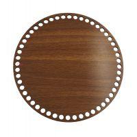 Ξύλινοι πάτοι (L) 1xo4 - Στρόγγυλο καρυδιάς (29,5 cm)