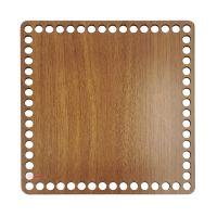 Ξύλινοι πάτοι (M) 1xk7 - Τετράγωνο καρυδιάς (24,5x24,5 cm)