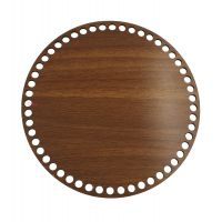 Ξύλινοι πάτοι (XL) 1xz3 - Στρόγγυλο καρυδιάς (34,5 cm)