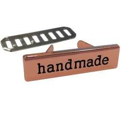 Ταμπελάκι Handmade μεταλλικό 3cm 9 - Ροζ Χρυσό