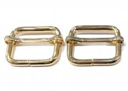 Κρίκος ορθογώνιος με διατόνιο 1 - Χρυσό (τεμάχιο)