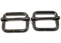 Κρίκος ορθογώνιος με διατόνιο 2 - Μαύρο (τεμάχιο)
