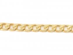 Αλυσίδα Stella Φαρδιά Σφυρήλατη 1,00m 2 - Χρυσή