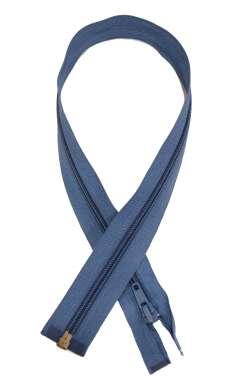 Φερμουάρ απλό μεταλλικό 50 cm 07 - Γαλάζιο