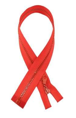 Φερμουάρ απλό πλαστικό 50 cm 15 - Κόκκινο