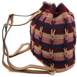 Crochet pouch bag / back bag