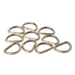 Κρίκος μισοφέγγαρο (D rings small) 4 - Μπρονζέ (τεμάχιο)