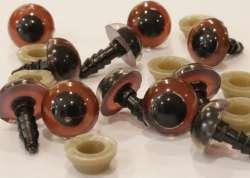 Ματάκια για Amigurumi 8-11 mm 9mm - Coffee (Ζευγάρι)
