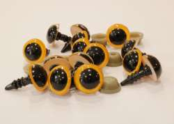 Ματάκια για Amigurumi 8-11 mm 10mm - Yelow (Ζευγάρι)