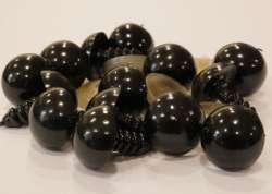 Ματάκια για Amigurumi 12-15 mm 12mm - Black (Ζευγάρι)