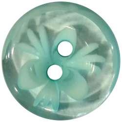 Κουμπιά Flower 10 - Aqua Green