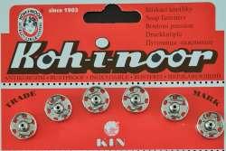 Σούστες ραπτικής 13mm ανοξείδωτες Τσεχίας 6τμχ Koh-I-Noor Νο.5 - 13mm - Ασημί