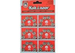 Σούστες ραπτικής 9mm ανοξείδωτες Τσεχίας 6τμχ Koh-I-Noor
