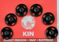 Σούστες ραπτικής 10mm ανοξείδωτες Τσεχίας 6τμχ Koh-I-Noor 10mm - Μαύρο