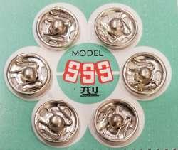 Σούστες ραπτικής 9mm ανοξείδωτες 6τμχ 9mm - Ασημί
