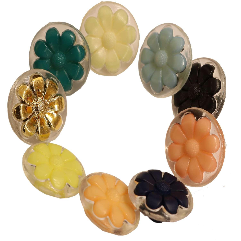 Κουμπιά ConeFlower διαφανές με χρώμα