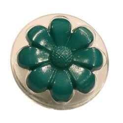 Κουμπιά ConeFlower διαφανές με χρώμα 07ΒΤΝF - Teal
