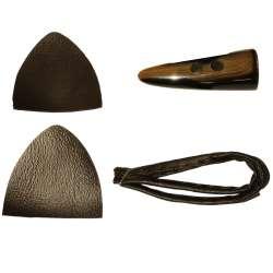 Κούμπωμα μοντγκόμερι 02KMGM - Μαύρο-Μπέζ