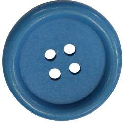 Μεγάλα Ξύλινα Κουμπιά 01BTNBO - Blue