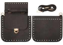 2. Κιτ τσάντας χιαστί Gold 2 - Μαύρο