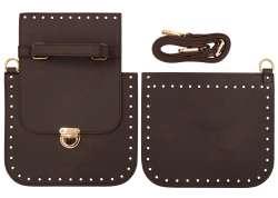2. Κιτ τσάντας χιαστί Gold 11 - Σκούρο Καφέ