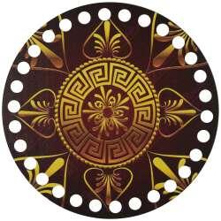 Ξύλινο Φιλιγκρί - Πάτος (14,50 cm) 54POD15 - (τεμάχιο)