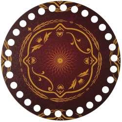 Ξύλινο Φιλιγκρί - Πάτος (14,50 cm) 58POD15 - (τεμάχιο)