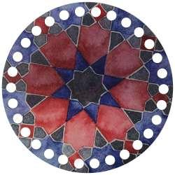 Ξύλινο Φιλιγκρί - Πάτος (14,50 cm) 38POD15 - (τεμάχιο)