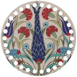 Ξύλινο Φιλιγκρί - Πάτος (14,50 cm) 43POD15 - (τεμάχιο)