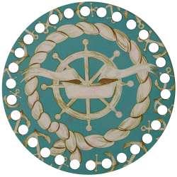 Ξύλινο Φιλιγκρί - Πάτος (14,50 cm) 45POD15 - (τεμάχιο)