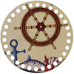 Ξύλινο Φιλιγκρί - Πάτος (14,50 cm) 46POD15 - (τεμάχιο)