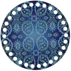 Ξύλινο Φιλιγκρί - Πάτος (14,50 cm) 77POD15 - (τεμάχιο)