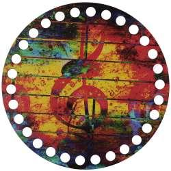 Ξύλινο Φιλιγκρί - Πάτος (14,50 cm) 36POD15 - (τεμάχιο)